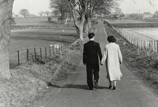 Young lovers walking in Gretna Green, c. 1956.