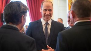 Prince William, Duke of Cambridge talks with guests during a Metropolitan and City Police Orphans Fund reception at St James\'s Palace to mark the 150th anniversary of the Fund on February 12, 2020 in London, England. (Photo by Victoria Jones - WPA pol/Getty Images)
