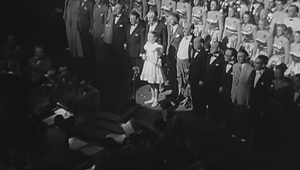 Julie Andrews (13) performs for George VI and Queen Elizabeth, in 1948.