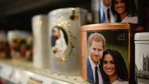 Merchandise featuring Prince Harry, Duke of Sussex and Meghan, Duchess of Sussex is seen on sale on January 14, 2020 in London, England. The Duke and Duchess of Sussex have announced that they are to step back from their senior Royal roles and are planning on splitting their time between the United Kingdom and North America. (Photo by Peter Summers/Getty Images)