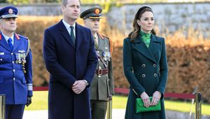 Prince William and Kate Middleton at the Garden of Remembrance in Dublin.