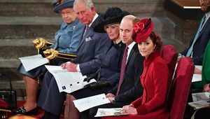 Queen Elizabeth II, Prince Charles, Prince of Wales, Camilla, Duchess of Cornwall, Prince William, Duke of Cambridge and Catherine, Duchess of Cambridge attend the Commonwealth Day Service 2020 on March 9, 2020 in London, England. (Photo by Phil Harris - WPA Pool/Getty Images)