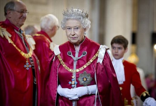 Queen Elizabeth II attends a service for the Order of the British Empire at St Paul\'s Cathedral on March 7, 2012 in London, England. (Photo by Geoff Pugh - WPA Pool /Getty Images)
