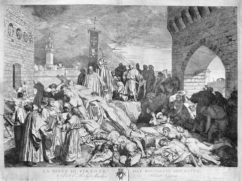 The plague of Florence, in 1348.