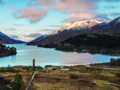 The monument of Glenfinnan, Lochaber.