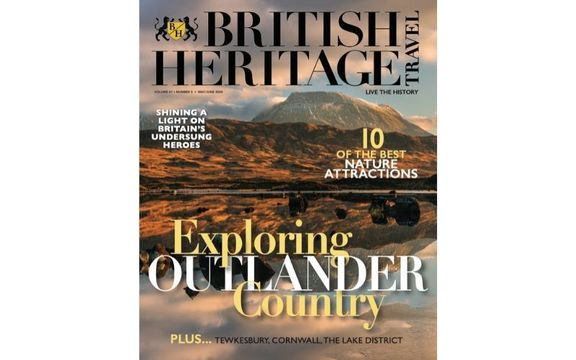 The cover of British Heritage Travel\'s May / June 2020 issue!