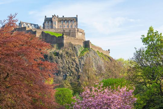 Princes Street Castle, Edinburgh.