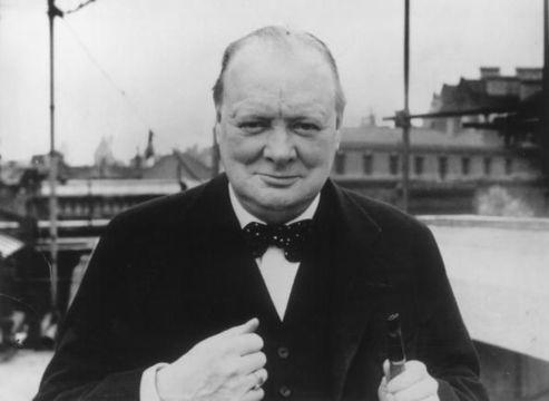 A Westerham lad: Prime Minister Winston Churchill.