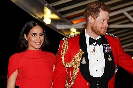Prince Harry, Duke of Sussex and Meghan, Duchess of Sussex arrive to attend the Mountbatten Music Festival at Royal Albert Hall on March 7, 2020 in London, England. (Photo by Simon Dawson - WPA Pool/Getty Images)