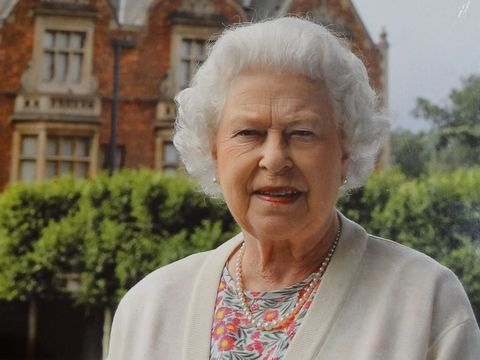 Queen Elizabeth photographed at Sandringham.