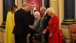 Queen Elizabeth with Donald Trump