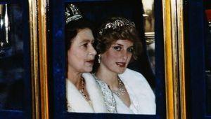 Princess Diana and Queen Elizabeth.