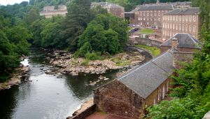 The mill buildings at New Lanark, Scotland.