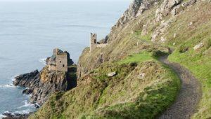 Crown Mines ruins in Cornwall.