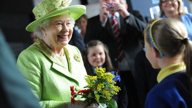 Queen Elizabeth II mingling with the public in 2012.