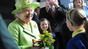 Queen Elizabeth II mingling with the public in 2012.