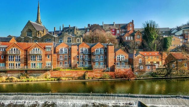Durham city, on the River Wear.