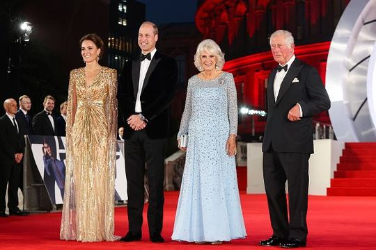 The Royal Family at the James Bond premiere