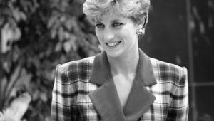 Princess Diana, photographed at the Accord Hospice.