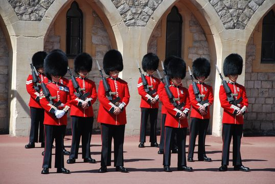 Chang of the Guard at Windsor Castle, in Sussex.