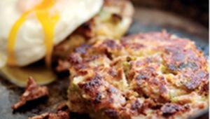 Bubble and squeak lamb brunch recipe.