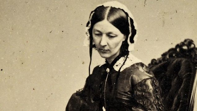 The world\'s most famous nurse, Florence Nightingale, aged 34, just after the Crimean War.