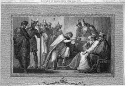 King Edward abdicating his throne.