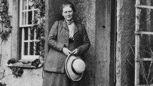"Beatrix Potter, author of \""Peter Rabbit\""."