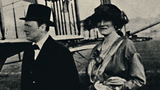 A young Winston Churchill and Clementine.