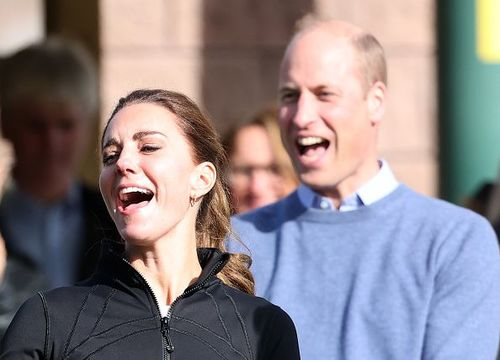 Catherine, Duchess of Cambridge and Prince William, Duke of Cambridge visit the Ulster University Magee Campus on September 29, 2021 in Londonderry, Northern Ireland.