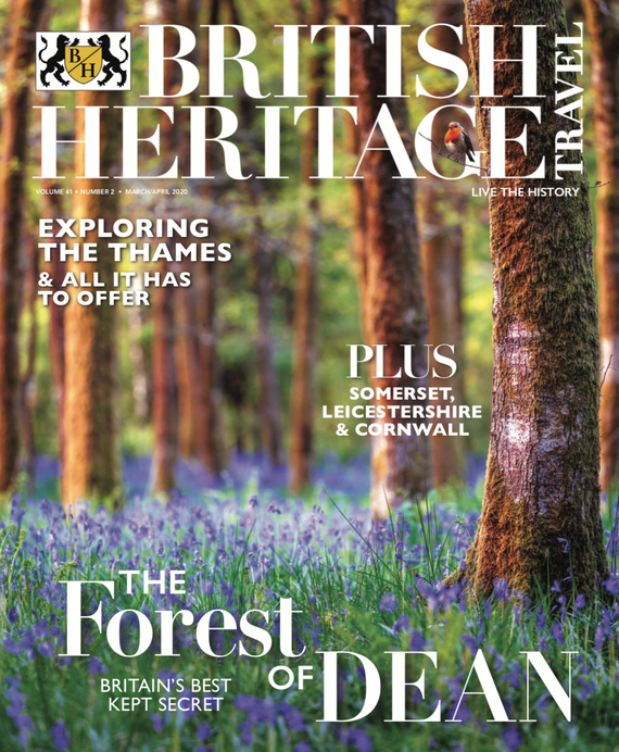 British Heritage Travel magazine's March / April 2020 cover.