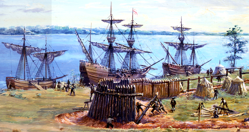 Source: National Park Service, Jamestown - Sidney King Paintings Gallery