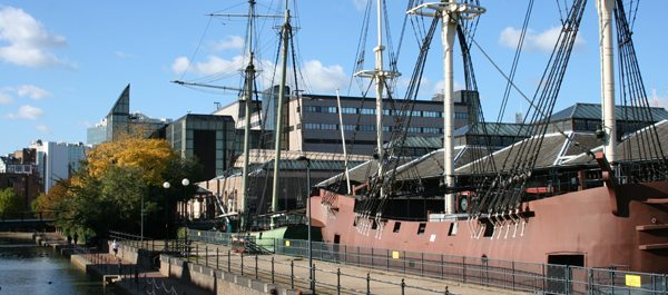 St. Katherine Dock, long a working cargo dock, now moors pleasure craft and home to upscale shops, restaurants and flats