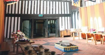 In the Great Hall of Gainsborough Old Hall, the small congregation met that finally made its way to New England.
