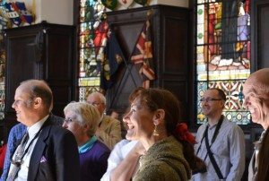 London Historians enjoying a trip around stationers Hall PHOTO Paul Lindus