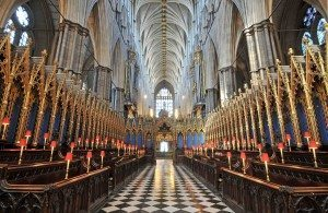 Westminster Abbey's ancient stalls where the Sistine Chapel Choir will sing.
