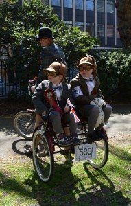 The Tweed Run is open to all ages. Photo: Paul Lindus