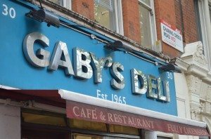 An unassuming front, but Gaby's is a quick-bite gem in the heart of Theatre Land.