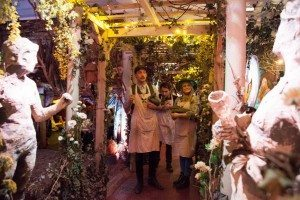 Gingerline waiters also doubled as gardeners in this magical fantasy-land - Photo: Gingerline