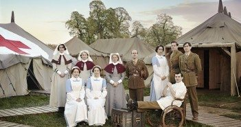 Programme Name: The Crimson Field - TX: n/a - Episode: Generics (No. n/a) - Picture Shows: (c/w from back left) Sister Joan Livesey (SURANNE JONES), Sister Margaret Quayle (KERRY FOX), Matron Grace Carter (HERMIONE NORRIS), Lieutenant-Colonel Roland Brett (KEVIN DOYLE), Kitty Trevelyan (OONA CHAPLIN), Captain Thomas Gillan (RICHARD RANKIN), Captain Miles Hesketh-Thorne (ALEX WYNDHAM), Corporal Peter Foley (JACK GORDON), Flora Marshall (ALICE ST CLAIR), Rosalie Berwick (MARIANNE OLDHAM) -