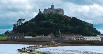 At low tide, walk the causeway to St. Michael's Mount. At high tide, you'll need a boat to cross Mount's Bay.
