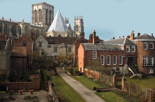 The Medieval city wall that surrounds old York