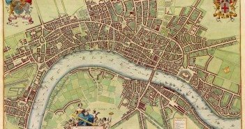17th century map of London. W Hollar after 1688
