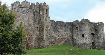 """Like every medieval fortress, Chepstow Castle was """"updated"""" several times over the centuries, but its massive curtain wall remains intact."""