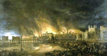 The Great Fire of London by unknown Dutch artist