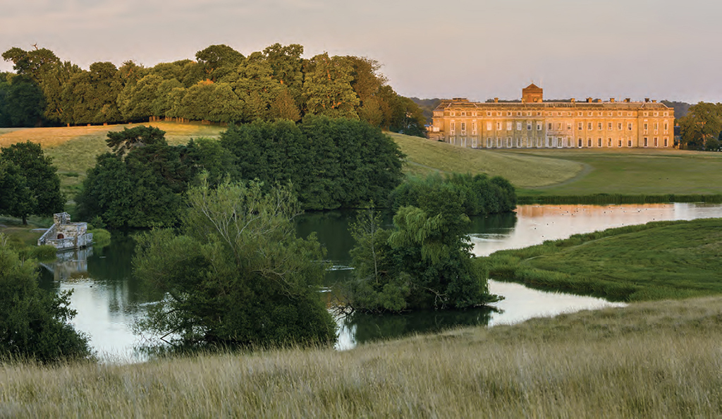 Image result for View of Petworth House, Landscape and Water Bend, Capability Brown.