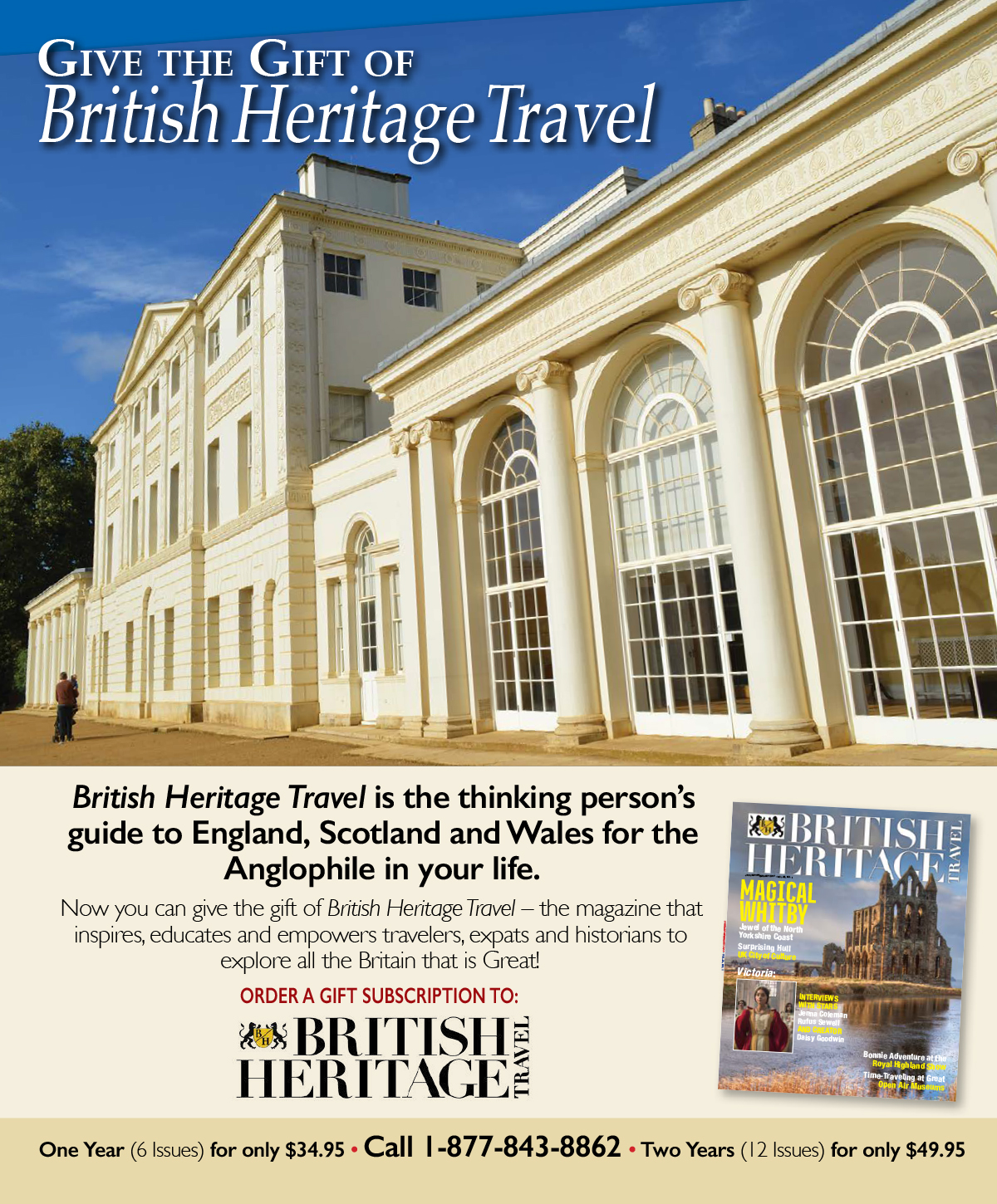 Give a Gift of British Heritage Travel Magazine