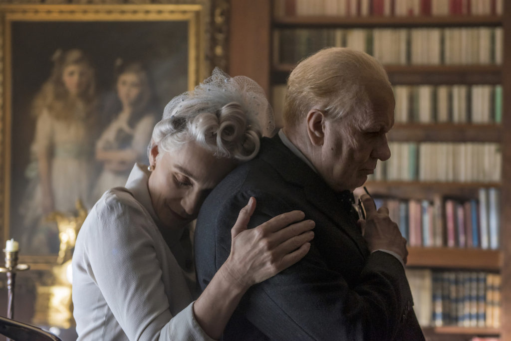 Kristin Scott Thomas and Gary Oldman star as Clementine and Winston Churchill in director Joe Wright's DARKEST HOUR, a Focus Features release.<br /> Credit: Jack English / Focus Features